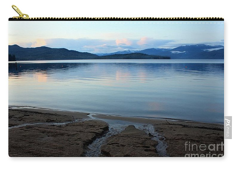Beach Carry-all Pouch featuring the photograph Peaceful Priest Lake by Carol Groenen