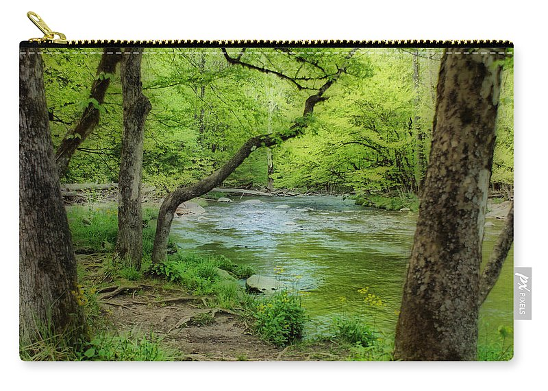 River Carry-all Pouch featuring the photograph Peaceful Scene by Sandy Keeton