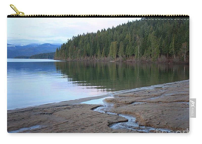 Idaho Carry-all Pouch featuring the photograph Peaceful Spring Lake by Carol Groenen