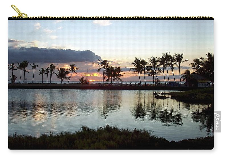 Sunset Carry-all Pouch featuring the photograph Peaceful Sunset by Deborah Crew-Johnson