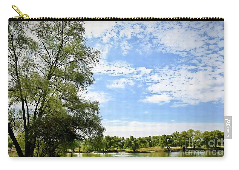 Peaceful View - Bradfield Park 18-37 Carry-all Pouch featuring the photograph Peaceful View - Bradfield Park 18-37 by Ray Shrewsberry