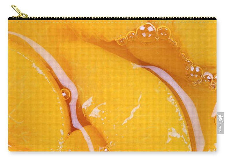 Peach Carry-all Pouch featuring the photograph Peaches by Neil Overy
