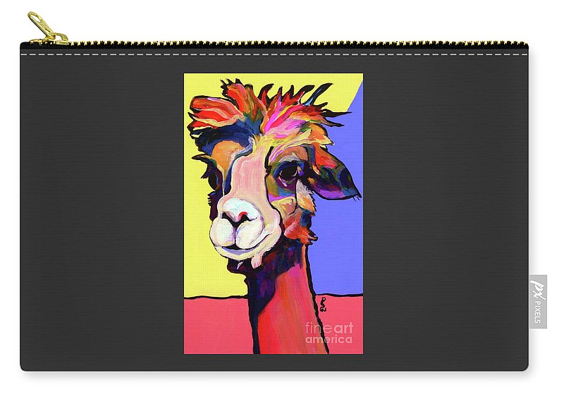 Pat Saunters-white Carry-all Pouch featuring the painting Peaches by Pat Saunders-White