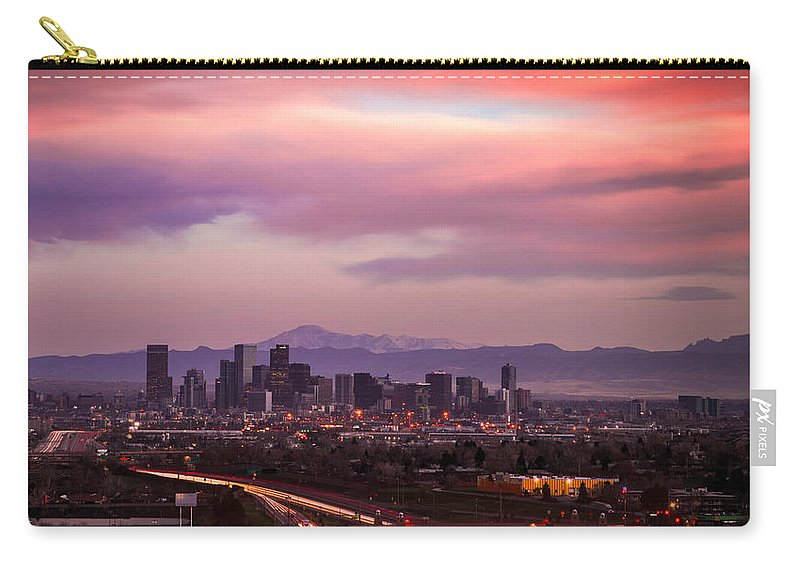 Denver Carry-all Pouch featuring the photograph Peak A Boo by Jon Blake