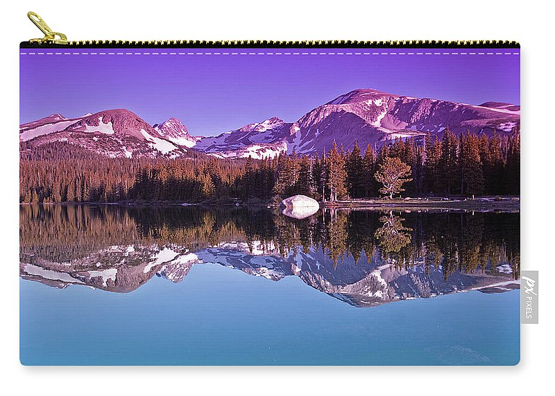 Mountain Carry-all Pouch featuring the photograph Peaks In The Mirror by Brian Kerls