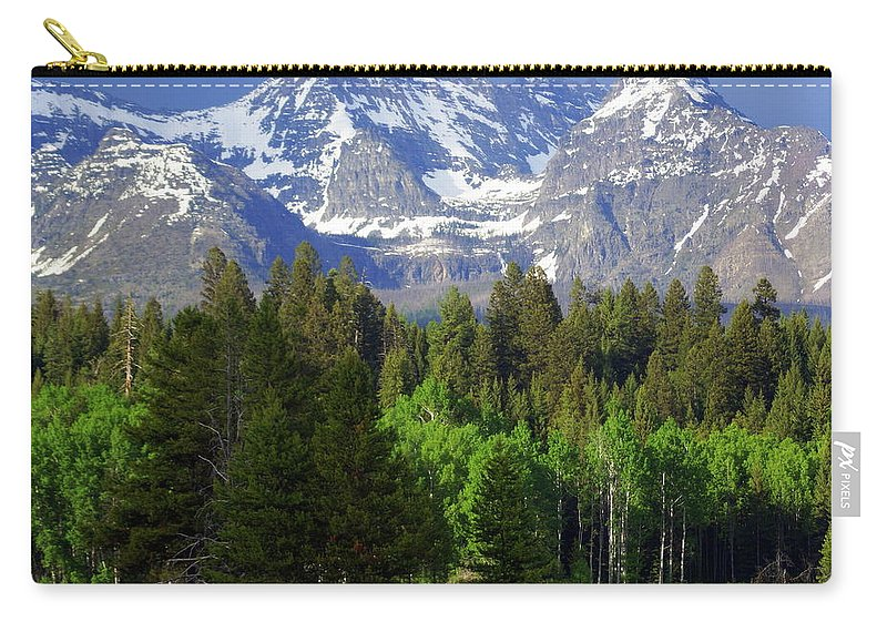 Mountains Carry-all Pouch featuring the photograph Peaks by Marty Koch