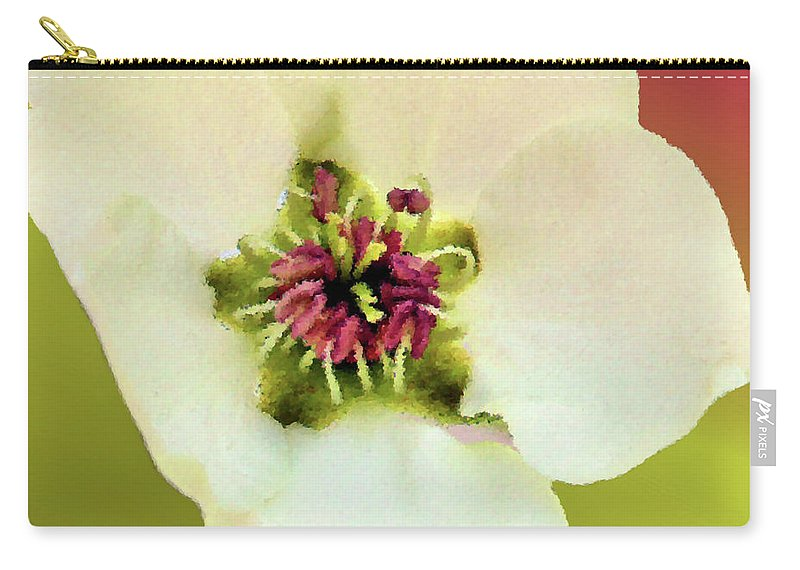 Pear Carry-all Pouch featuring the photograph Pear Petals by Kristin Elmquist