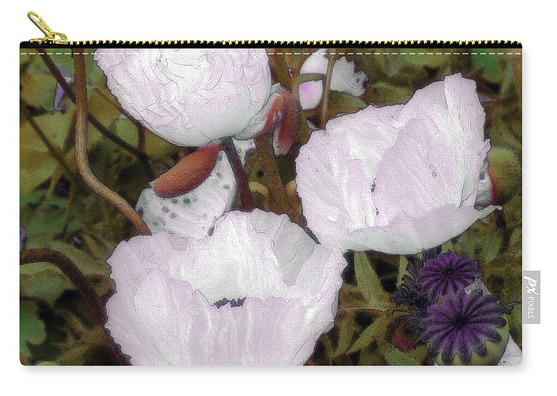 Blooms Carry-all Pouch featuring the digital art Pearlblossoms by RC deWinter