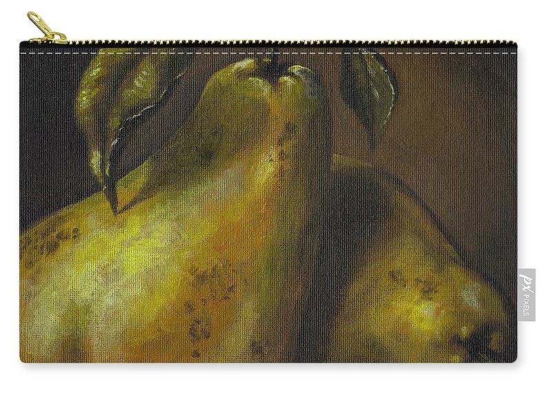 Still Life Carry-all Pouch featuring the painting Pears by Adam Zebediah Joseph