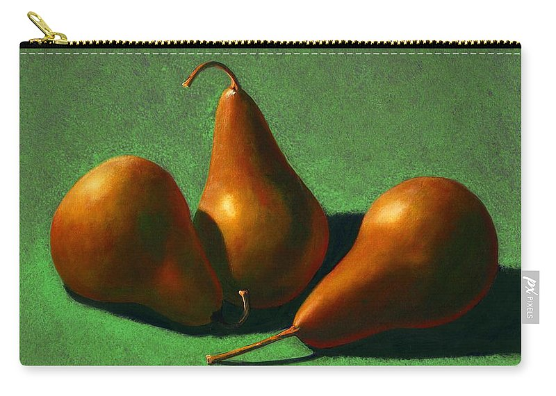 Still Life Carry-all Pouch featuring the painting Pears by Frank Wilson