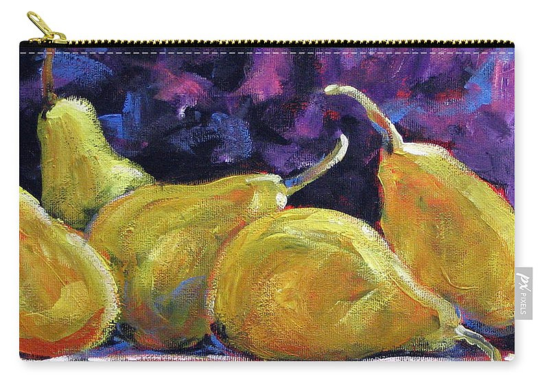 Art Carry-all Pouch featuring the painting Pears Mioummmmmmmmmm by Richard T Pranke