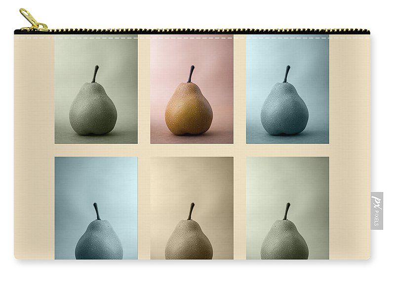 Pear Carry-all Pouch featuring the photograph Pears Squared by Carol Leigh