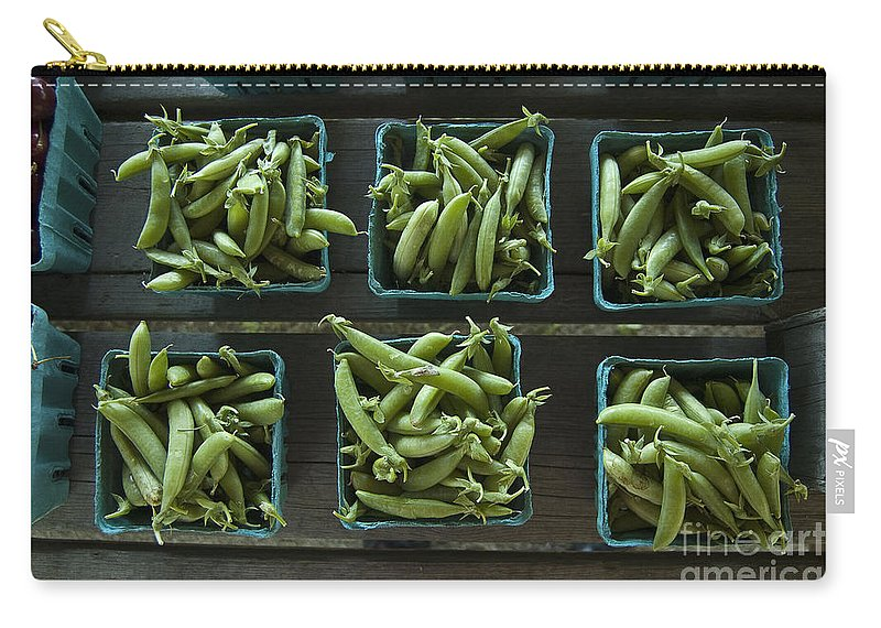 Pea Carry-all Pouch featuring the photograph Peas by Steven Dunn