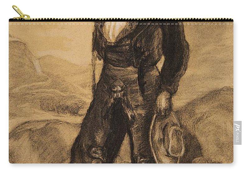 Ignacio Zuloaga Y Zabaleta Carry-all Pouch featuring the painting Peasant Labourers by Ignacio Zuloaga y Zabaleta