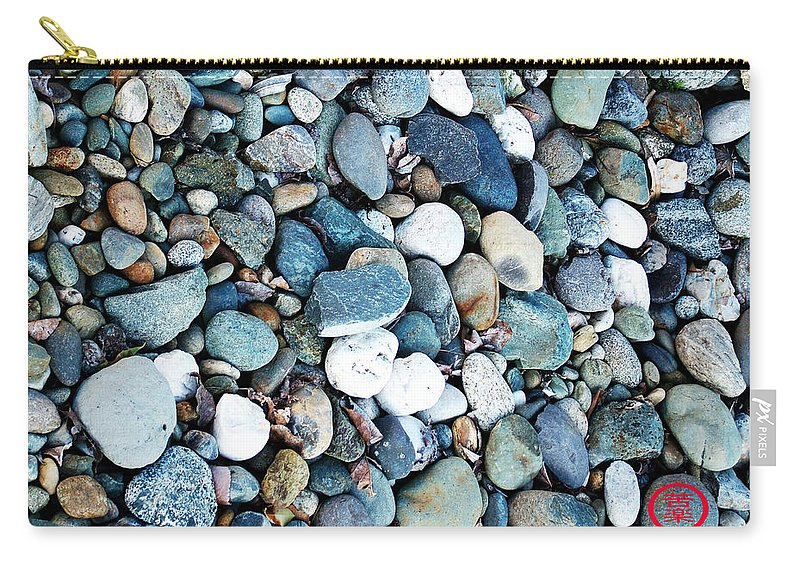 Phototgraph Carry-all Pouch featuring the photograph Pebbles 03 by Kuraku