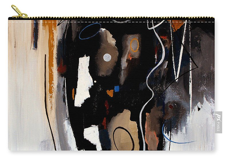 Abstract Carry-all Pouch featuring the painting Pebbles In The Stream by Ruth Palmer