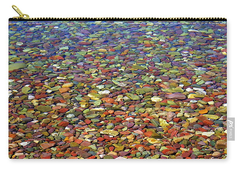 Water Carry-all Pouch featuring the photograph Pebbles by Marty Koch