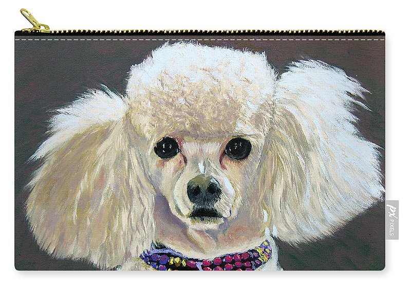 Dog Carry-all Pouch featuring the painting Pebbles by Stan Hamilton