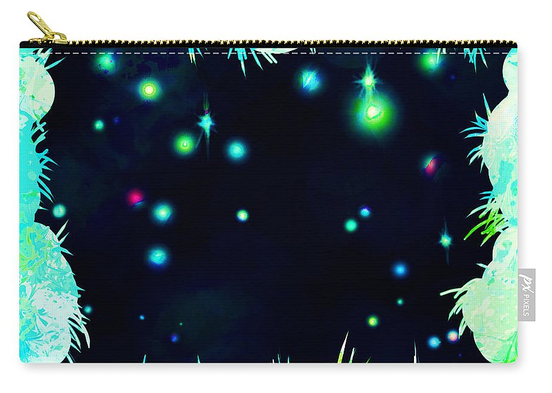 Abstract Carry-all Pouch featuring the digital art Peeking In by William Russell Nowicki