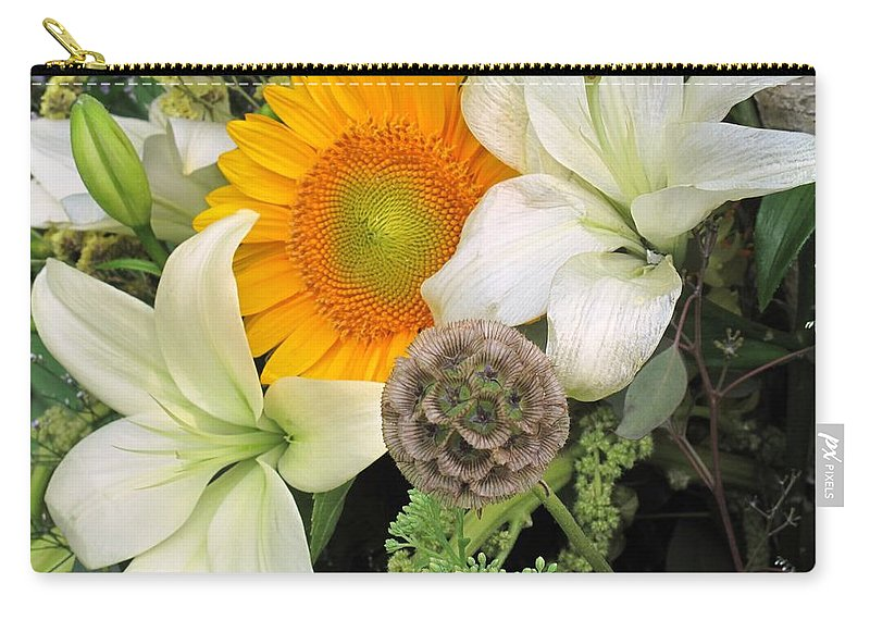 Lillies Carry-all Pouch featuring the photograph Peeking Out by Ian MacDonald