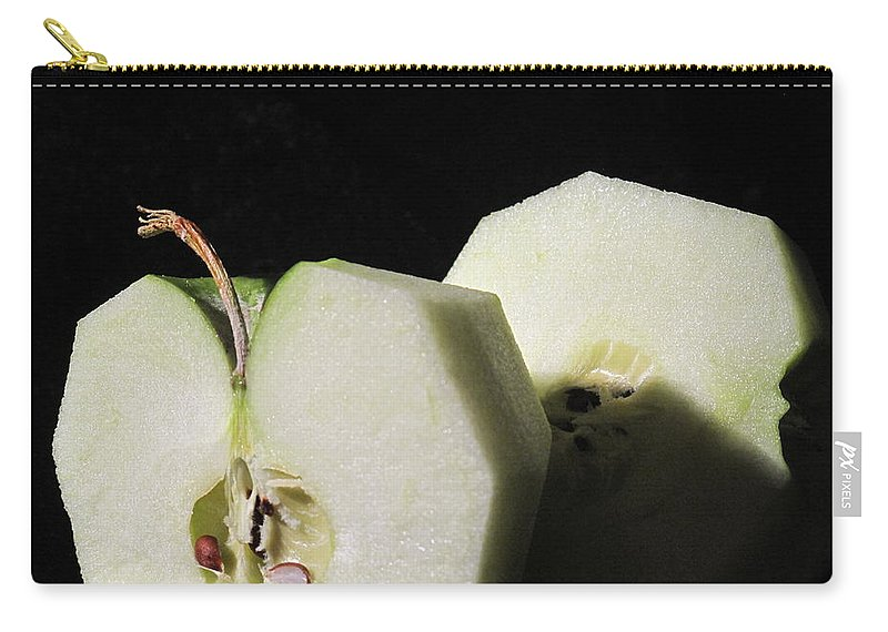 Apple Carry-all Pouch featuring the photograph Peeled And Halved by Ian MacDonald