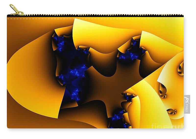 Fractal Art Carry-all Pouch featuring the digital art Peeling Away by Ron Bissett
