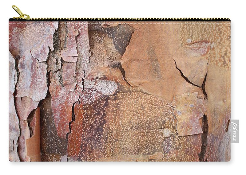 Bark Carry-all Pouch featuring the photograph Peeling Bark 2 by Carol Groenen