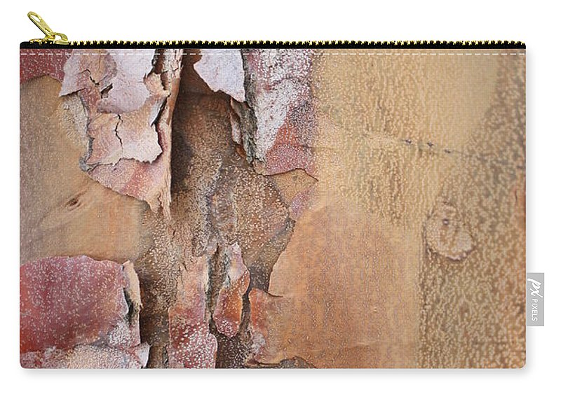 Bark Carry-all Pouch featuring the photograph Peeling Bark by Carol Groenen