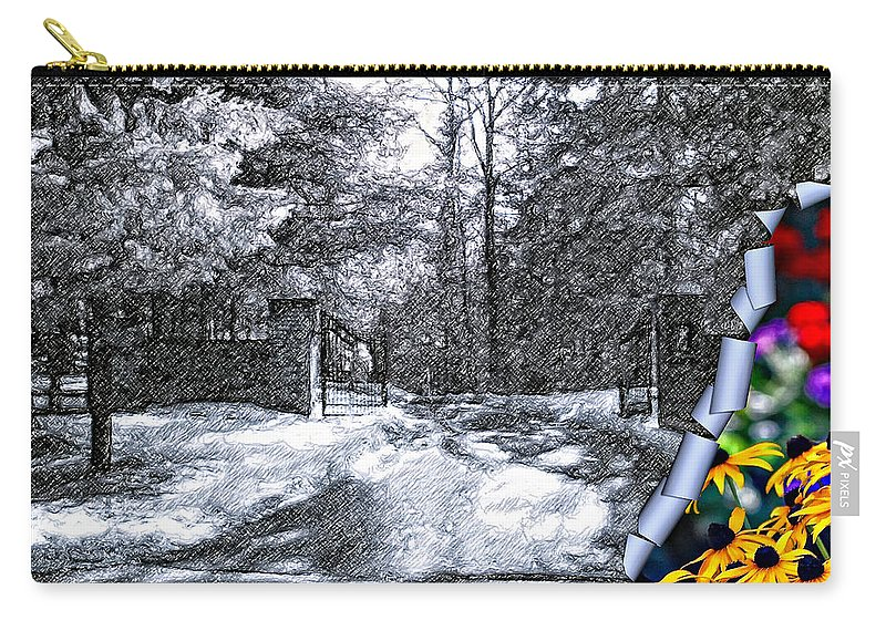 Winter Carry-all Pouch featuring the photograph Peeling Winter Away by Steve Harrington