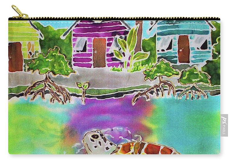 Bahamas Art Carry-all Pouch featuring the painting Peepin Tom by Tiff