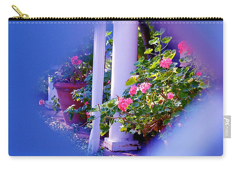 Flower Carry-all Pouch featuring the photograph Peeping Trough The Fence by Susanne Van Hulst