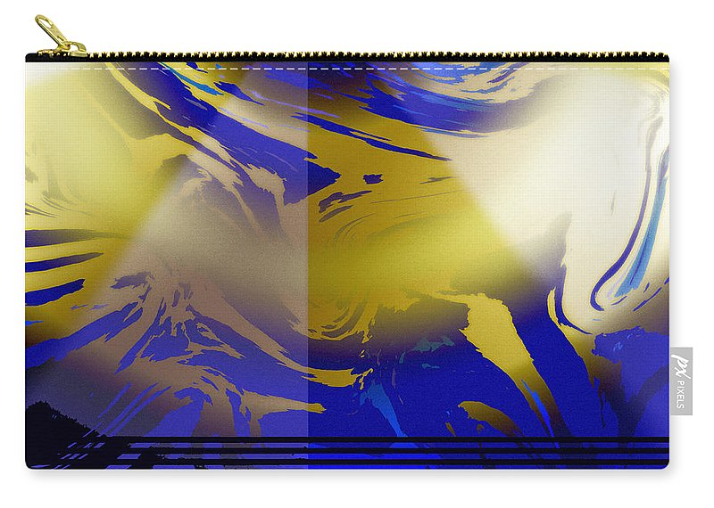 Abstract Carry-all Pouch featuring the digital art Pegasus From Above by Ian MacDonald