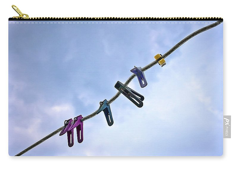 Peg Carry-all Pouch featuring the photograph Pegging Out by Evelina Kremsdorf