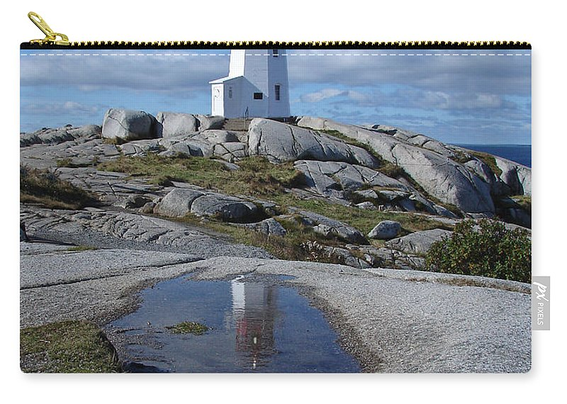 Seascape Carry-all Pouch featuring the photograph Peggys Cove Nova Scotia Canada by Heather Coen