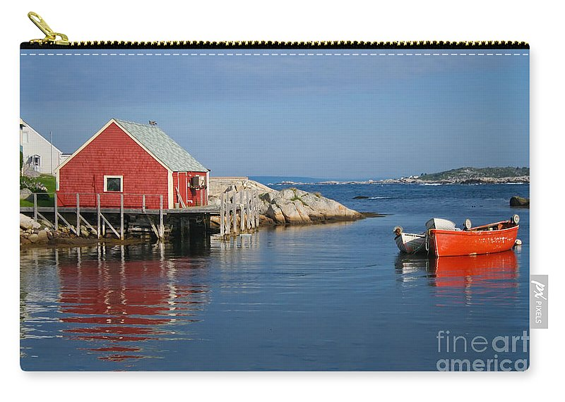 Peggy's Cove Carry-all Pouch featuring the photograph Peggys Cove by Thomas Marchessault