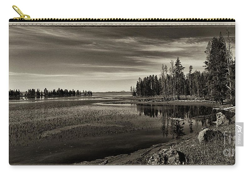 Yellowstone Carry-all Pouch featuring the photograph Pelican Bay Morning - Yellowstone by Sandra Bronstein