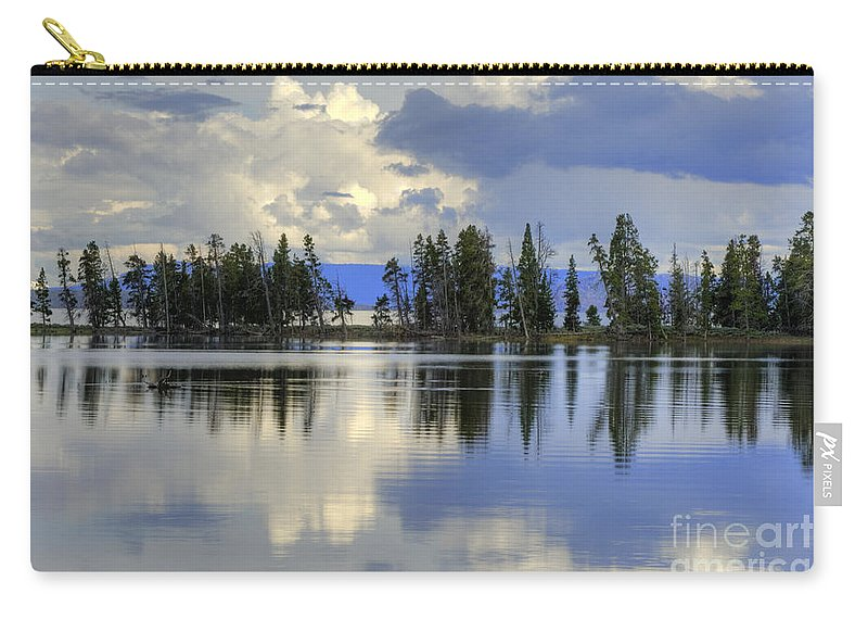 Hdr Carry-all Pouch featuring the photograph Pelican Bay Morning by Sandra Bronstein