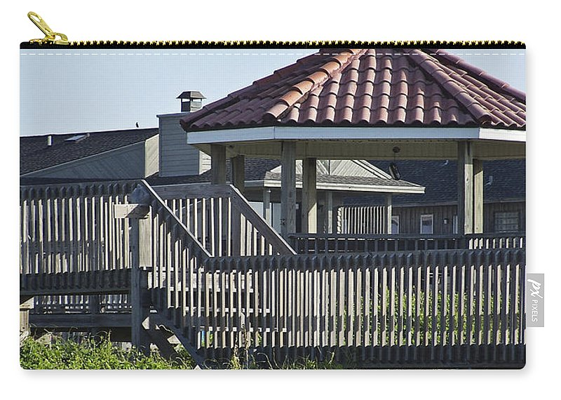Pelican Carry-all Pouch featuring the photograph Pelican Weathervane Ocean Isle Norht Carolina by Teresa Mucha