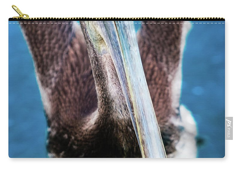 Blue Carry-all Pouch featuring the photograph Pelicano by Doug Sturgess
