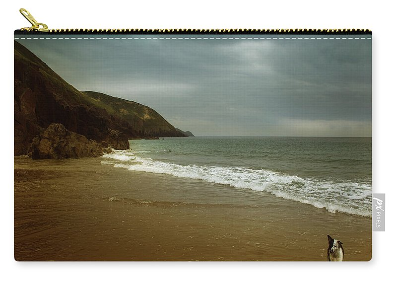 Beach Carry-all Pouch featuring the photograph Pembrokeshire by Angel Ciesniarska