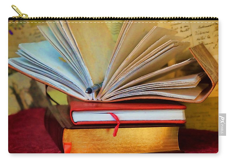 Books Carry-all Pouch featuring the photograph Pen To Paper by Pamela Walton