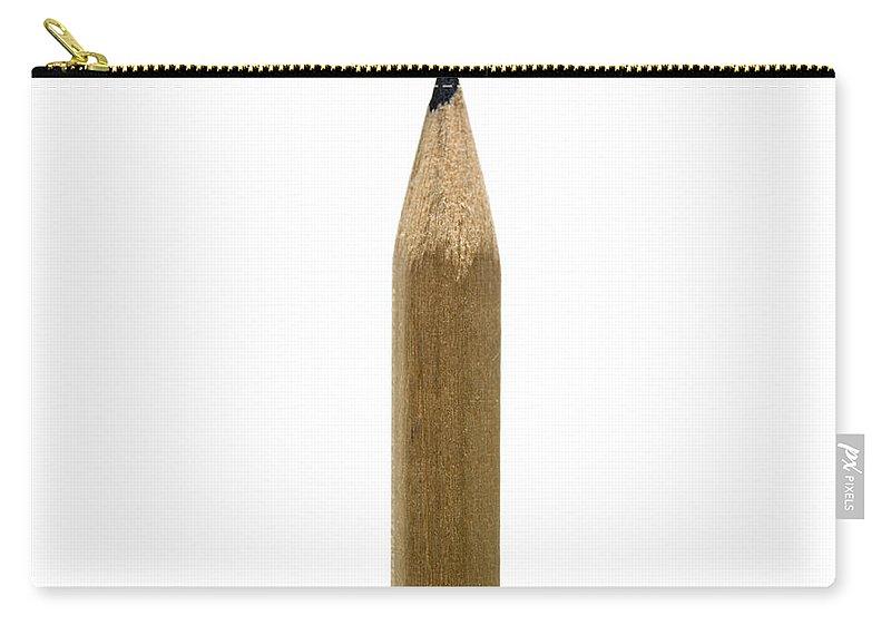 Studio Shot Carry-all Pouch featuring the photograph Pencil Paper by Bernard Jaubert