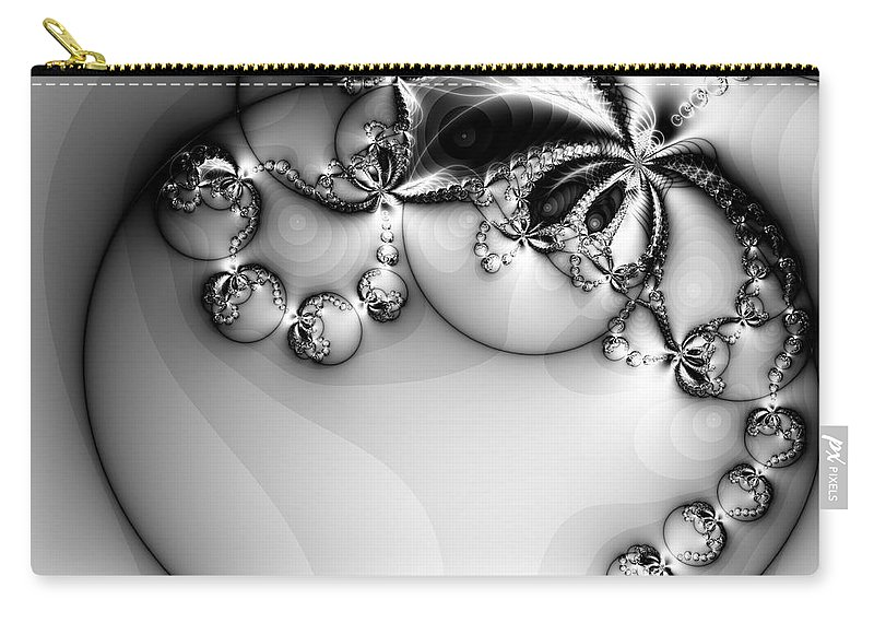 Digital Art Carry-all Pouch featuring the digital art Pendant In Silver by Amanda Moore