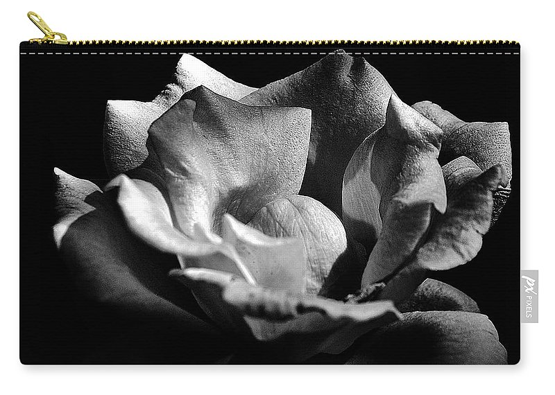 Clay Carry-all Pouch featuring the photograph Penetrating The Rose by Clayton Bruster