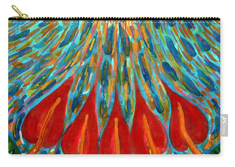 Colour Carry-all Pouch featuring the painting Penetration by Wojtek Kowalski