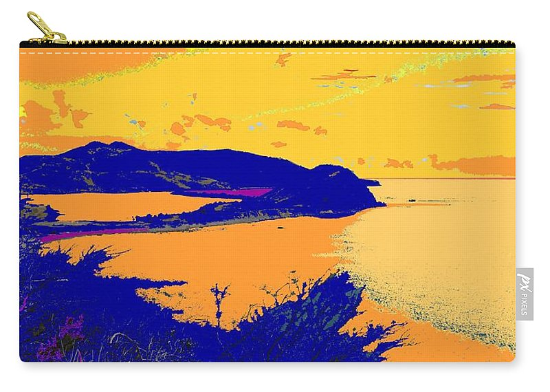 St Kitts Carry-all Pouch featuring the photograph Peninsula Orange by Ian MacDonald
