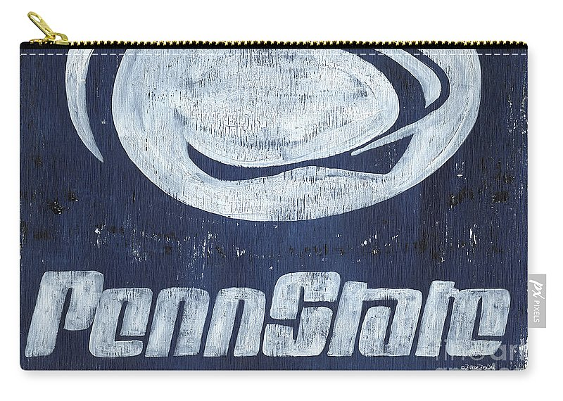 Penn State Carry-all Pouch featuring the painting Penn State by Debbie DeWitt