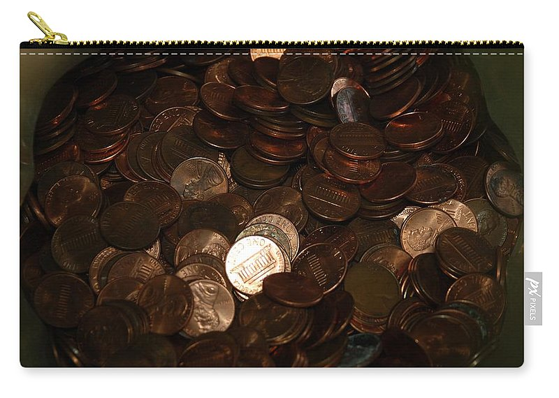 Pennies Carry-all Pouch featuring the photograph Pennies by Rob Hans
