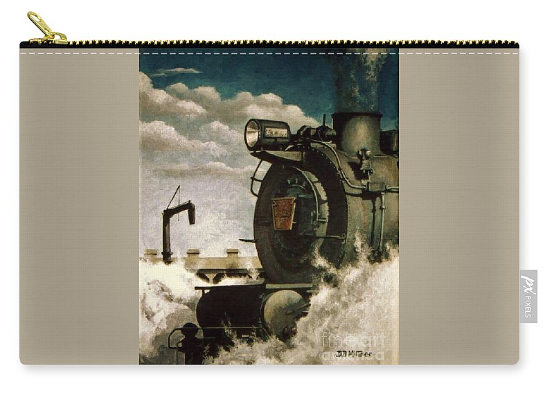 Pennsylvania Railroad Prr Train Painting Railroad Maryland And Pennsylvania Autumn Fall Colors Steam Engine Carry-all Pouch featuring the painting Pennsy M1 by David Mittner