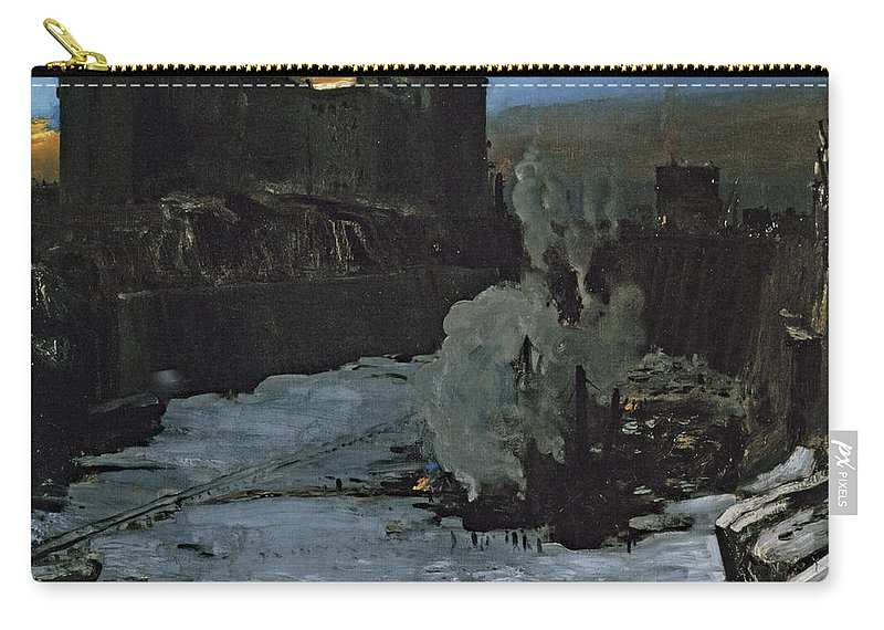 Pennsylvania Station Excavation Carry-all Pouch featuring the photograph Pennsylvania Station Excavation by George Bellows